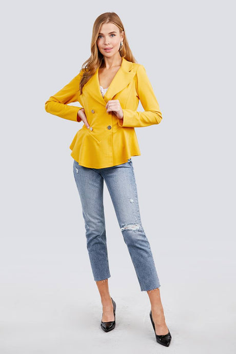 Bright Yellow + Button Up Blazer
