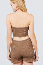 Load image into Gallery viewer, Two Piece Sweater Tube Top + Skirt Set