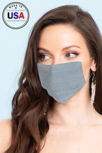 Load image into Gallery viewer, Unisex Slate Fabric Reusable Face Mask