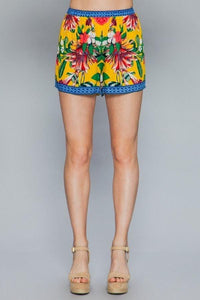 Funky + Floral Bright Lounge Shorts