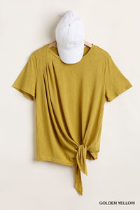 Front Tie Knot Top Blouse