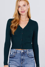 Load image into Gallery viewer, Long Sleeve + Button Up Sweater Blouse