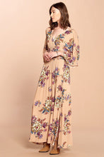 Load image into Gallery viewer, Vintage + Bohemian Floral Maxi Dress