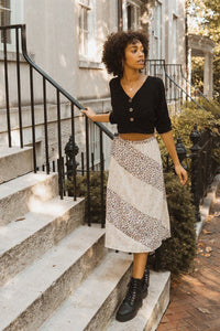 Wild Woven Floral Beyond-the-Knee Skirt