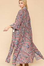 Load image into Gallery viewer, Colorful + Tasseled Ankle Length Kimono