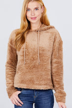 Load image into Gallery viewer, Fluffy Faux Fur Hoodie