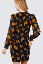 Load image into Gallery viewer, Ruffle Sleeve Print Mini Dress