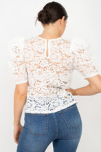Load image into Gallery viewer, Puff Sleeve Round Neck Top