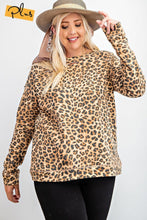 Load image into Gallery viewer, Long Sleeve + Leopard Print Knit Pullover