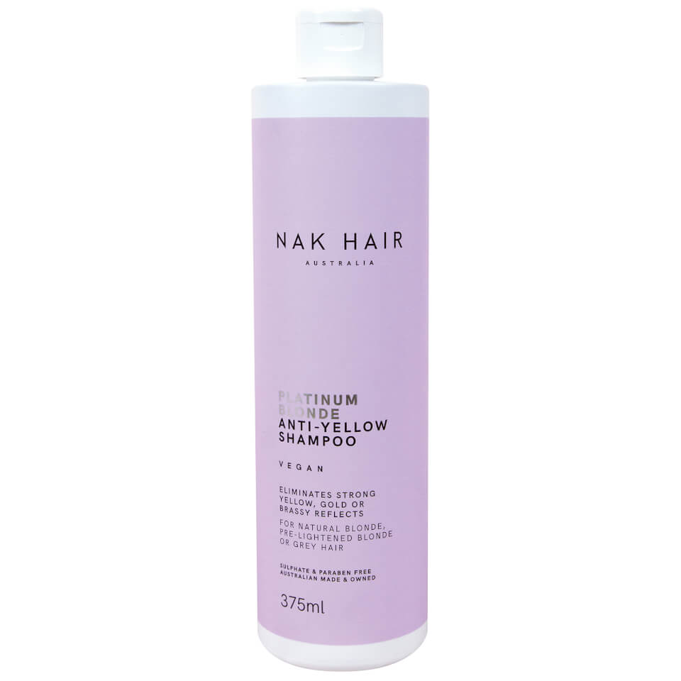 Nak Platinum Blonde Anti Yellow Shampoo 375ml