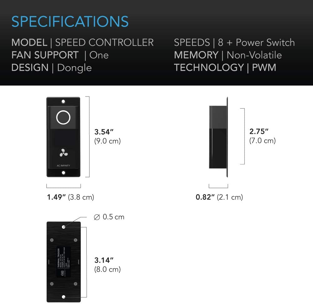 AC Infinity Ventilation Fan S12
