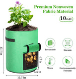 Potato Grow Bags 2-Pack Green