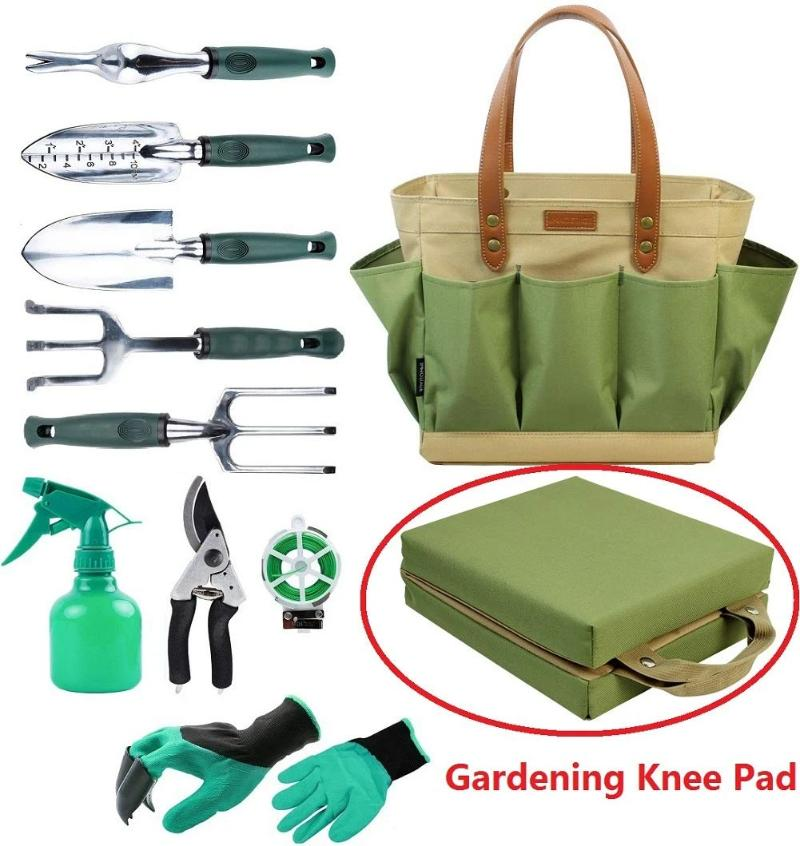 Garden Tools Set With Kneeling Pad