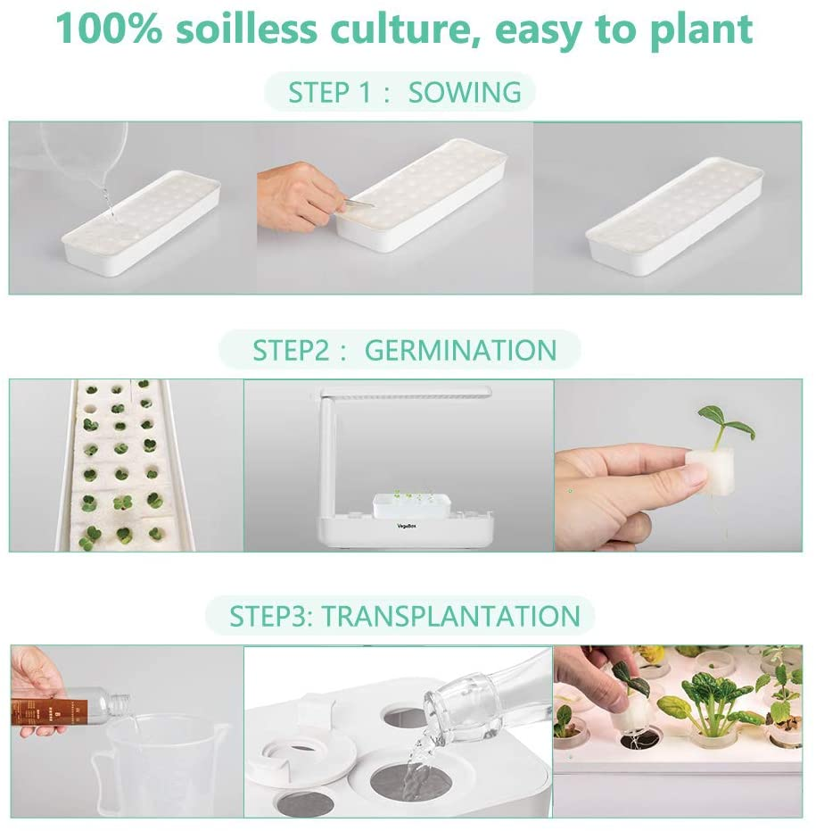 Hydroponics LED Light Plant Growing System