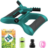auto rotating lawn sprinkler with accessories