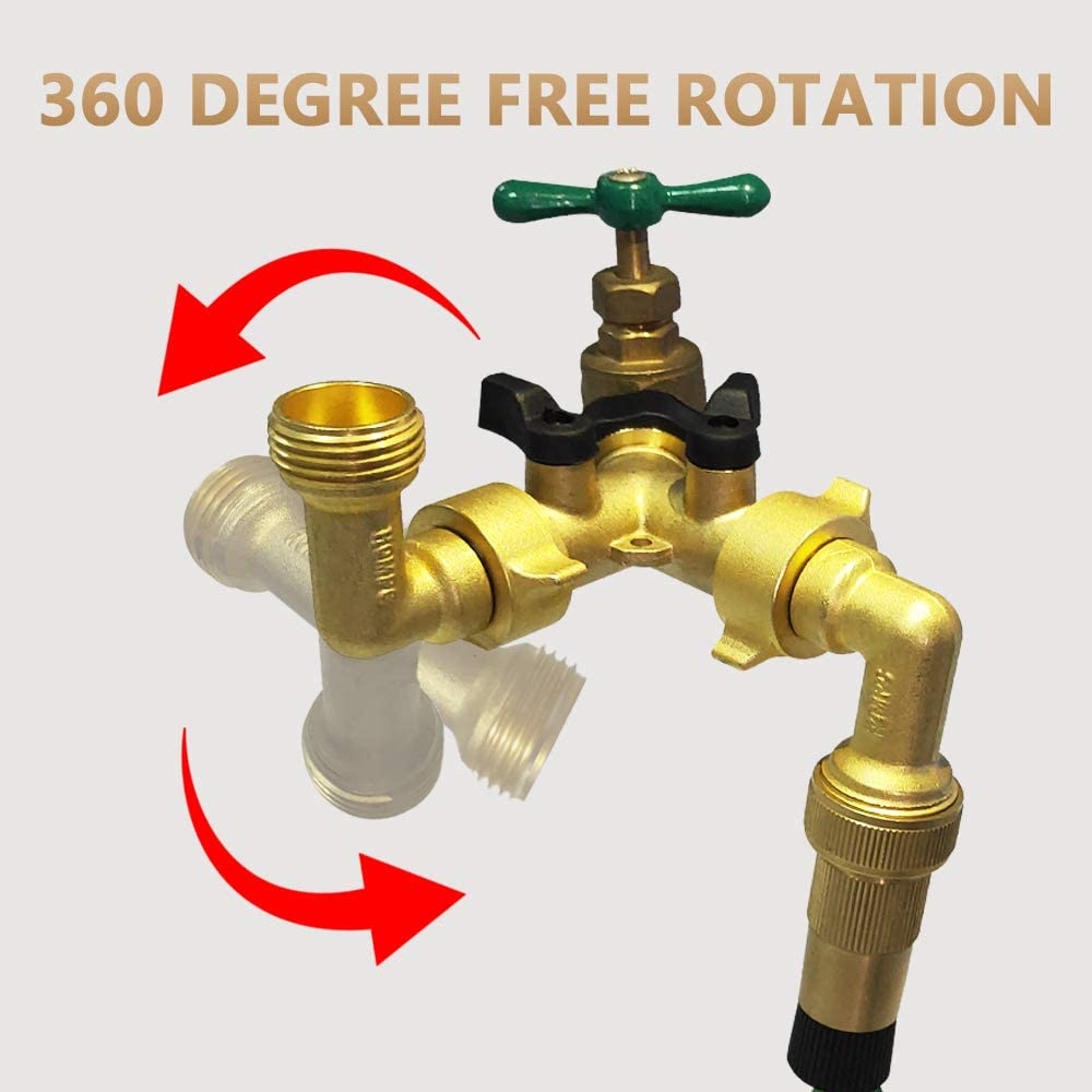 90 Degree Garden Hose Brass Connector