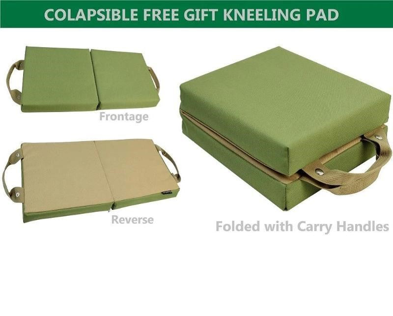 Premium Garden Tools Set With Kneeling Pad