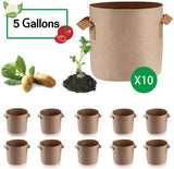 Grow Bags 10 Pack Beige