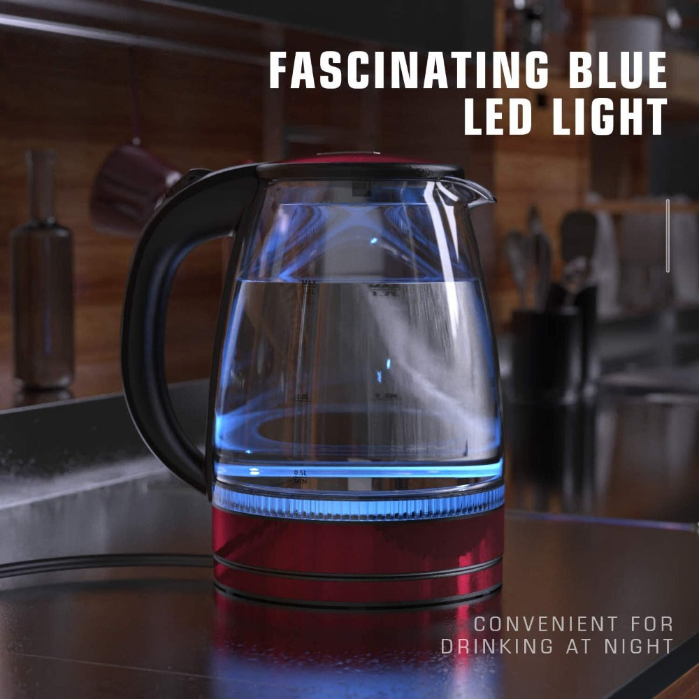 Electric Glass Kettle With LED Light