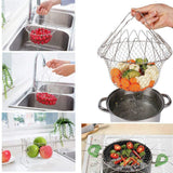 Foldable Steam Fry Cooking Basket