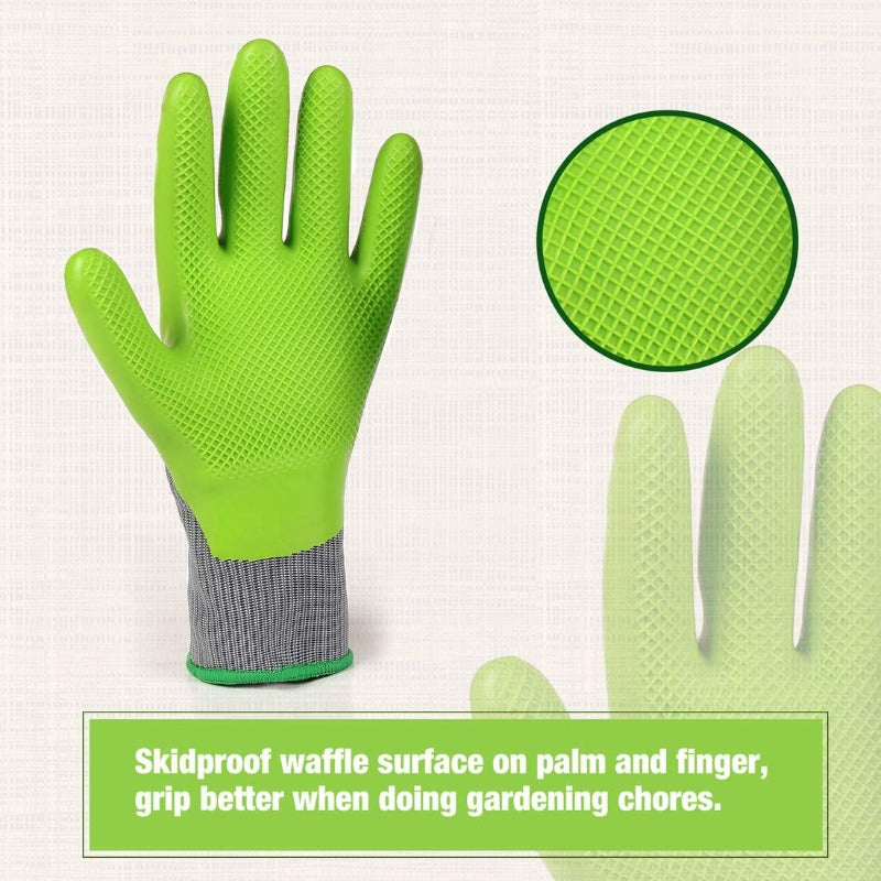 Gardening Gloves Coated 6 Pack
