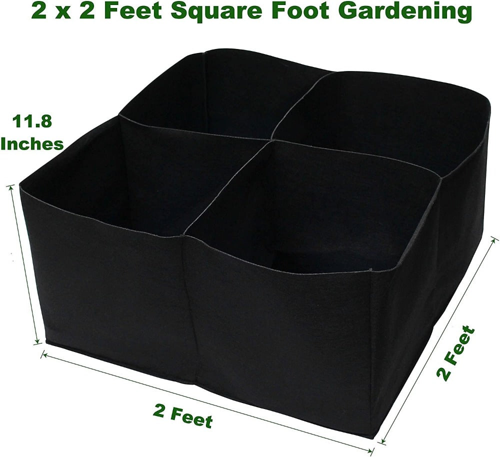 Square Raised Bed & Large Grow Bags