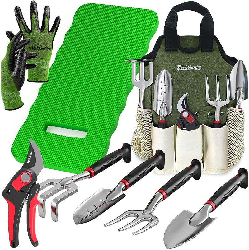 Garden Tools Set With Knee Pad