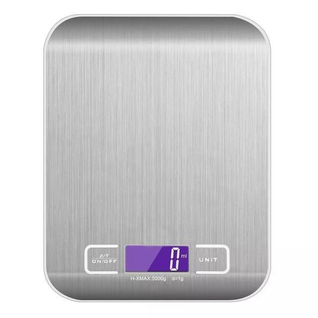 Amazing Garden Silver / 5000g-1g High Accuracy Digital Kitchen Scale 5kg/ 10kg