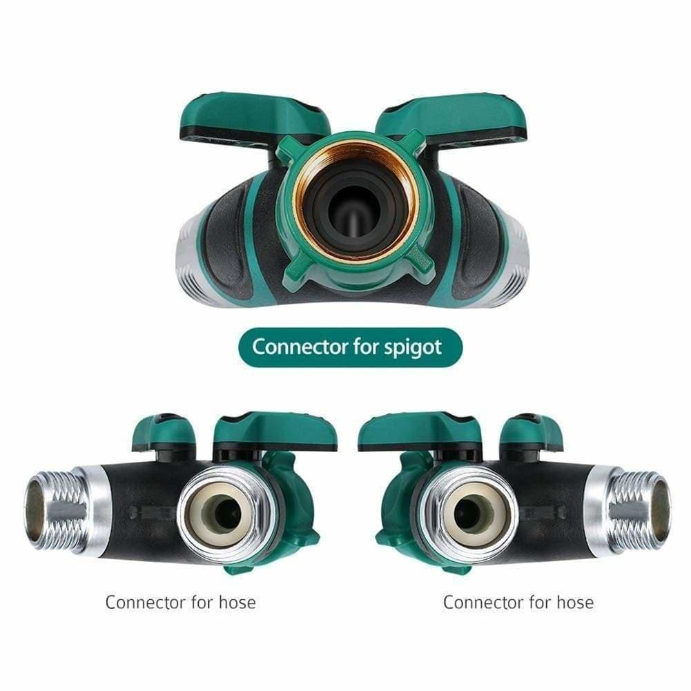 Amazing Garden New 2 Way Metal Body Garden Hose Splitter