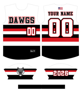 Dawgs Striped Custom Jersey