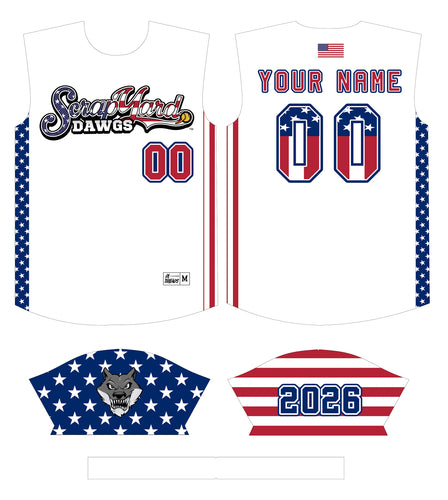 Scrap Yard American Flag Custom Jersey