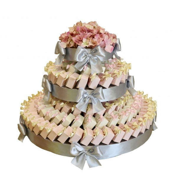 WD Box 2 Layer Round Arrangement - Wedding Delights W.L.L