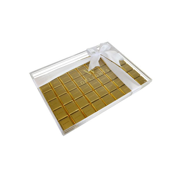 Almond Square Chocolate Thin Tray