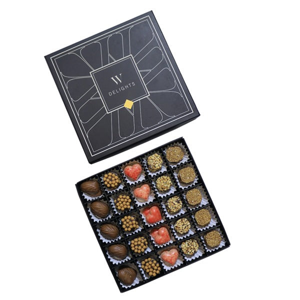 Black Wedding Delights Box Petit Chocolate Assorted - Wedding Delights W.L.L