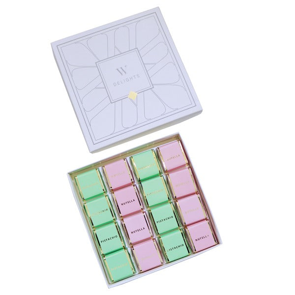 Wedding Delights Box Square Chocolate Assorted - Wedding Delights W.L.L