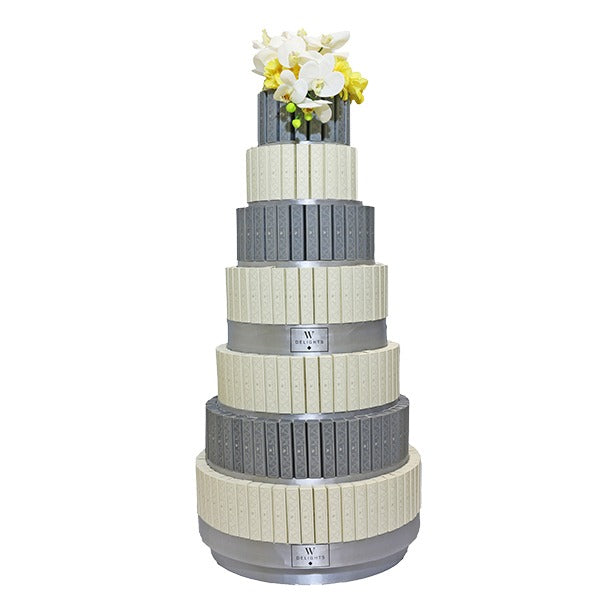 7 Layer Eclair Round Tower - Wedding Delights W.L.L