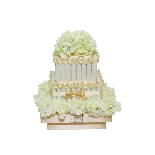 2 Layer Eclair Square Tower - Wedding Delights W.L.L