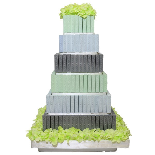 6 Layer  Eclair Square Tower - Wedding Delights W.L.L