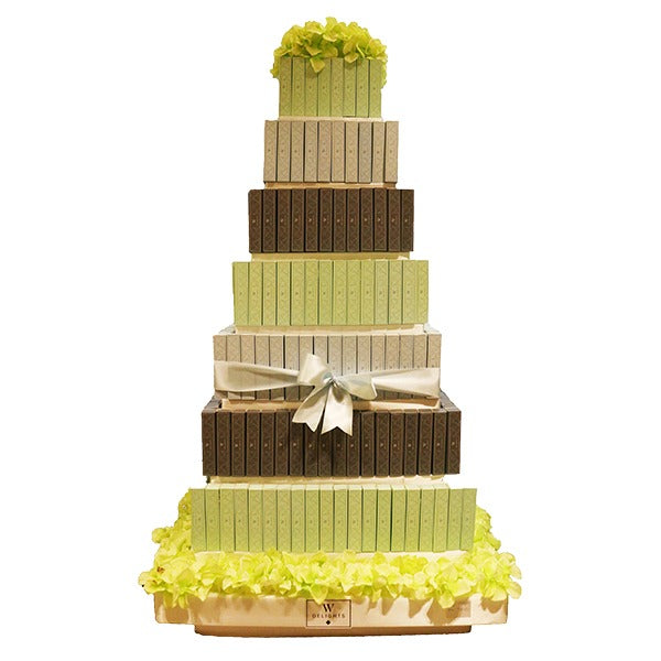 7 Layer Eclair Square Tower - Wedding Delights W.L.L