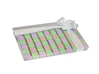 Square Chocolate Thin Tray Chess Design