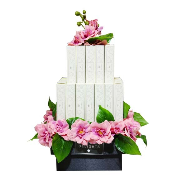 2 Layer Eclair Mini Square Arrangement - Wedding Delights W.L.L