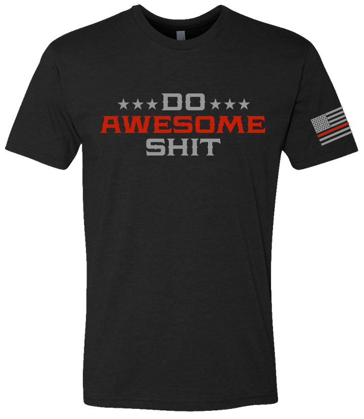 Mens Do Awesome Shit Tee - Thin Red Line