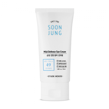 Etude House Soon Jung Mild Defence Sun Cream SPF 49/PA++ - Olive Kollection