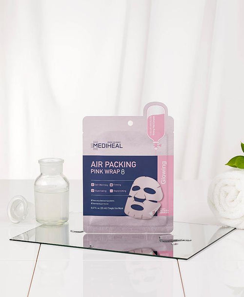 Mediheal Air Packing Pink Wrap Mask - Olive Kollection