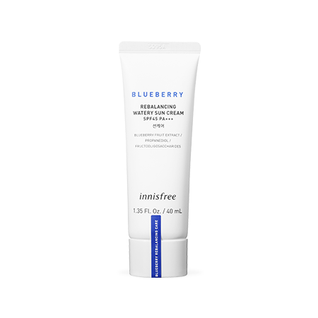 Innisfree Blueberry Rebalancing Watery Sun Cream SPF45/PA+++ - Olive Kollection