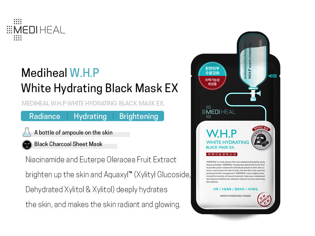 Mediheal W.H.P White Hydrating Black Mask EX - Olive Kollection