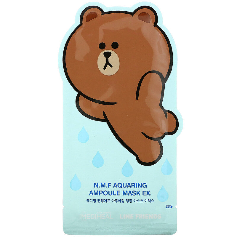 MEDIHEAL X LINE FRIENDS N.M.F Aquaring Ampoule Mask Set - Olive Kollection