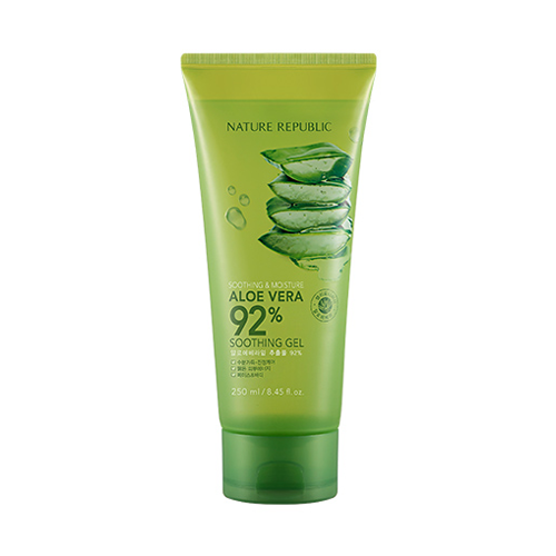 Nature Republic Aloe Vera Soothing Gel, 92% Soothing and Moisture - Olive Kollection