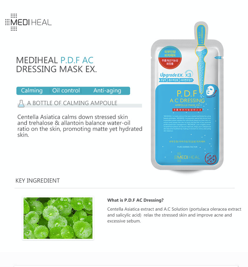 Mediheal P.D.F AC Dressing Ampoule Mask - Olive Kollection