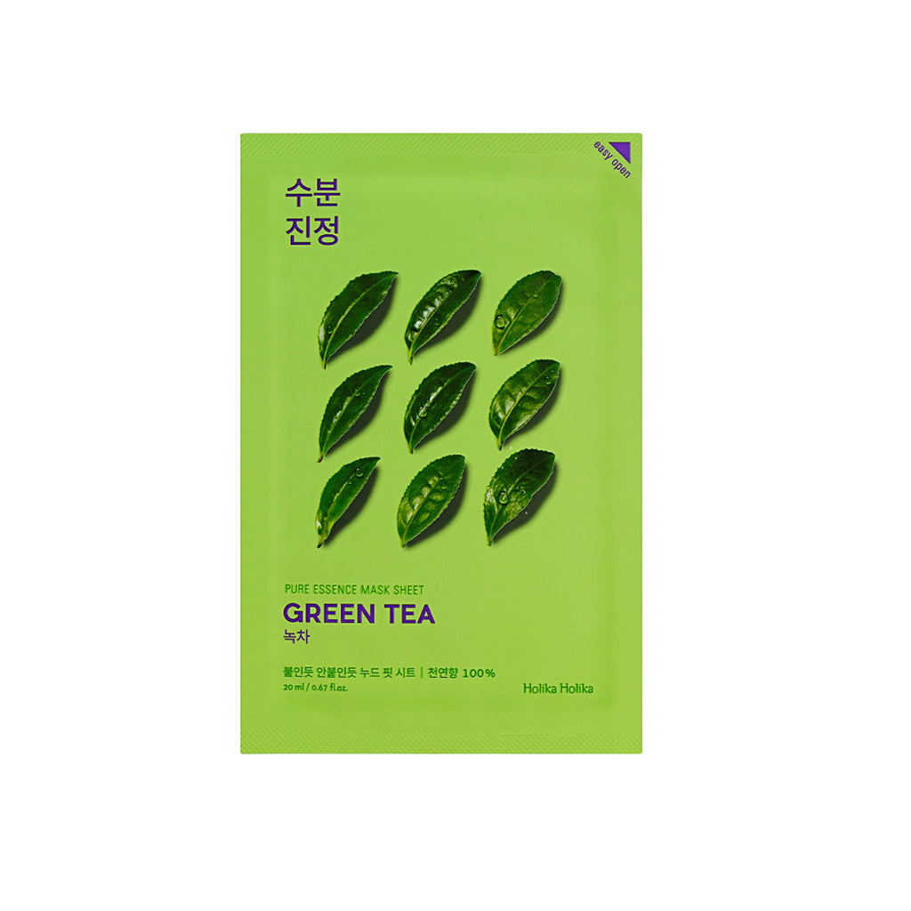 Holika Holika Pure Essence Mask Sheet Green Tea - Olive Kollection